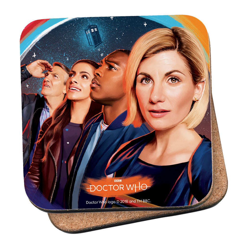 Thirteenth Doctor Group Coaster