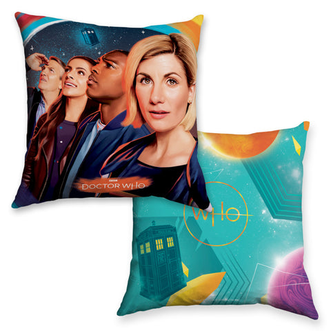 Thirteenth Doctor Group Cushion