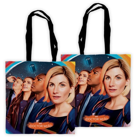 Thirteenth Doctor Group Edge to Edge Tote
