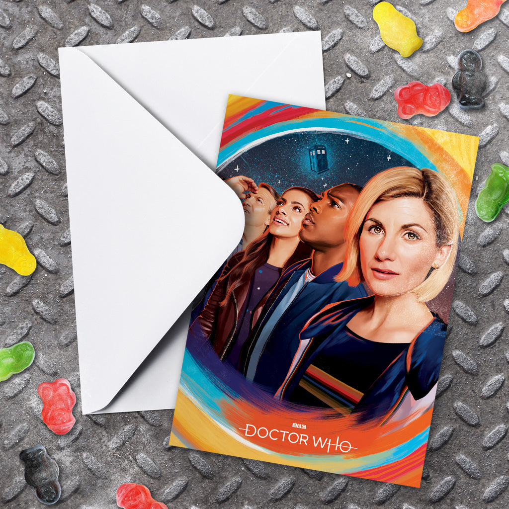 Thirteenth Doctor Group Greeting Card (Lifestyle)