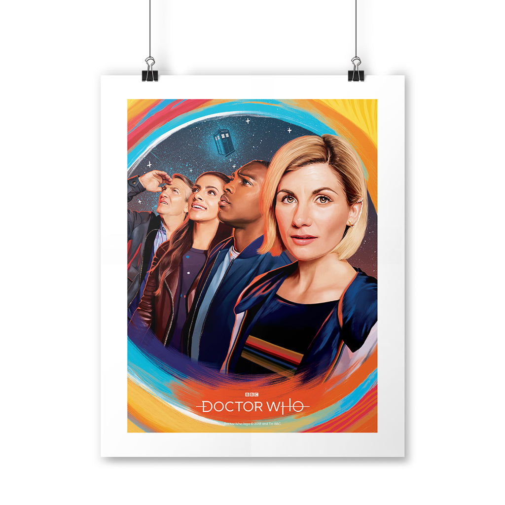 Thirteenth Doctor Group Art Print