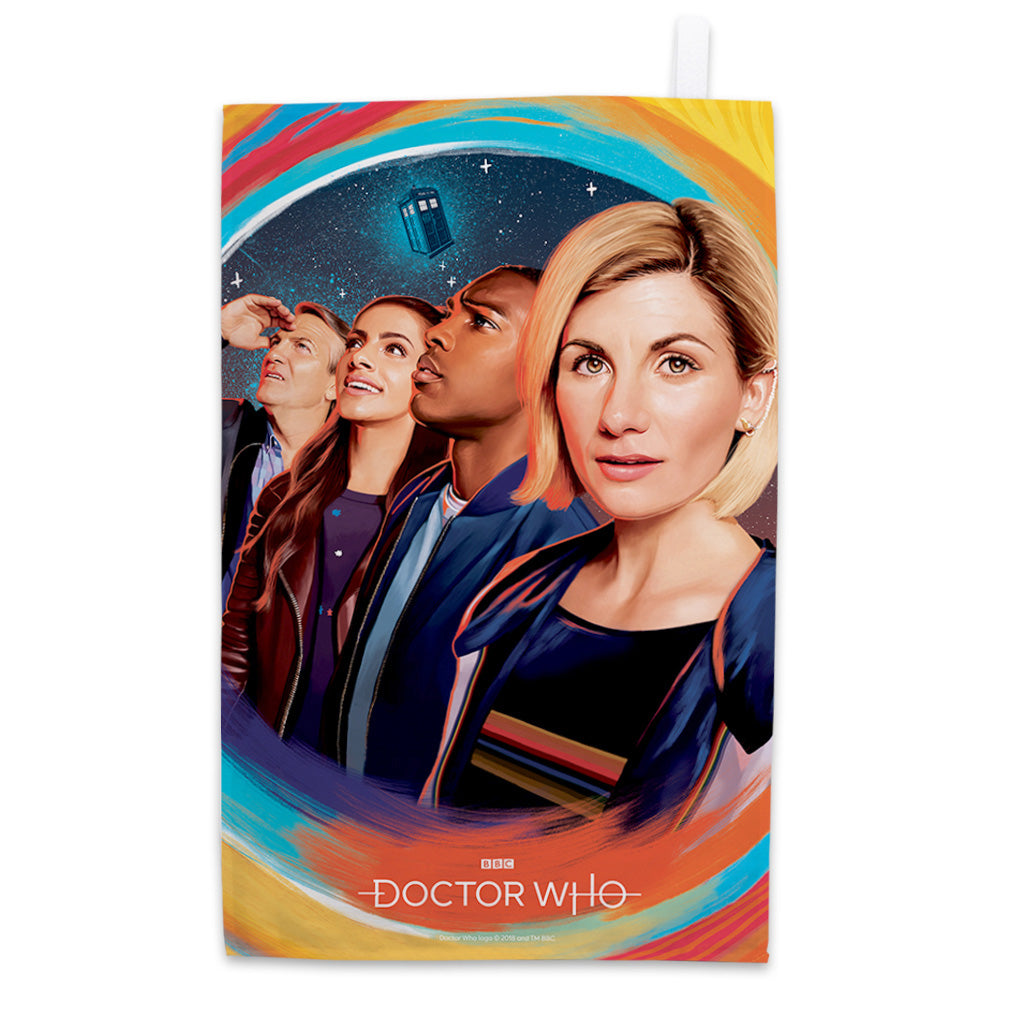 Thirteenth Doctor Group Tea Towel