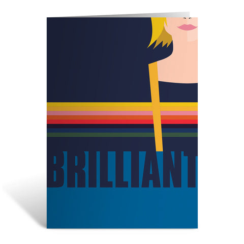 Thirteenth Doctor Brilliant Greeting Card