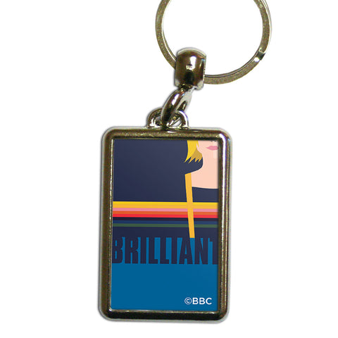 Thirteenth Doctor Brilliant Metal Keyring