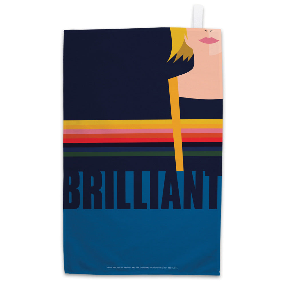 Thirteenth Doctor Brilliant Tea Towel