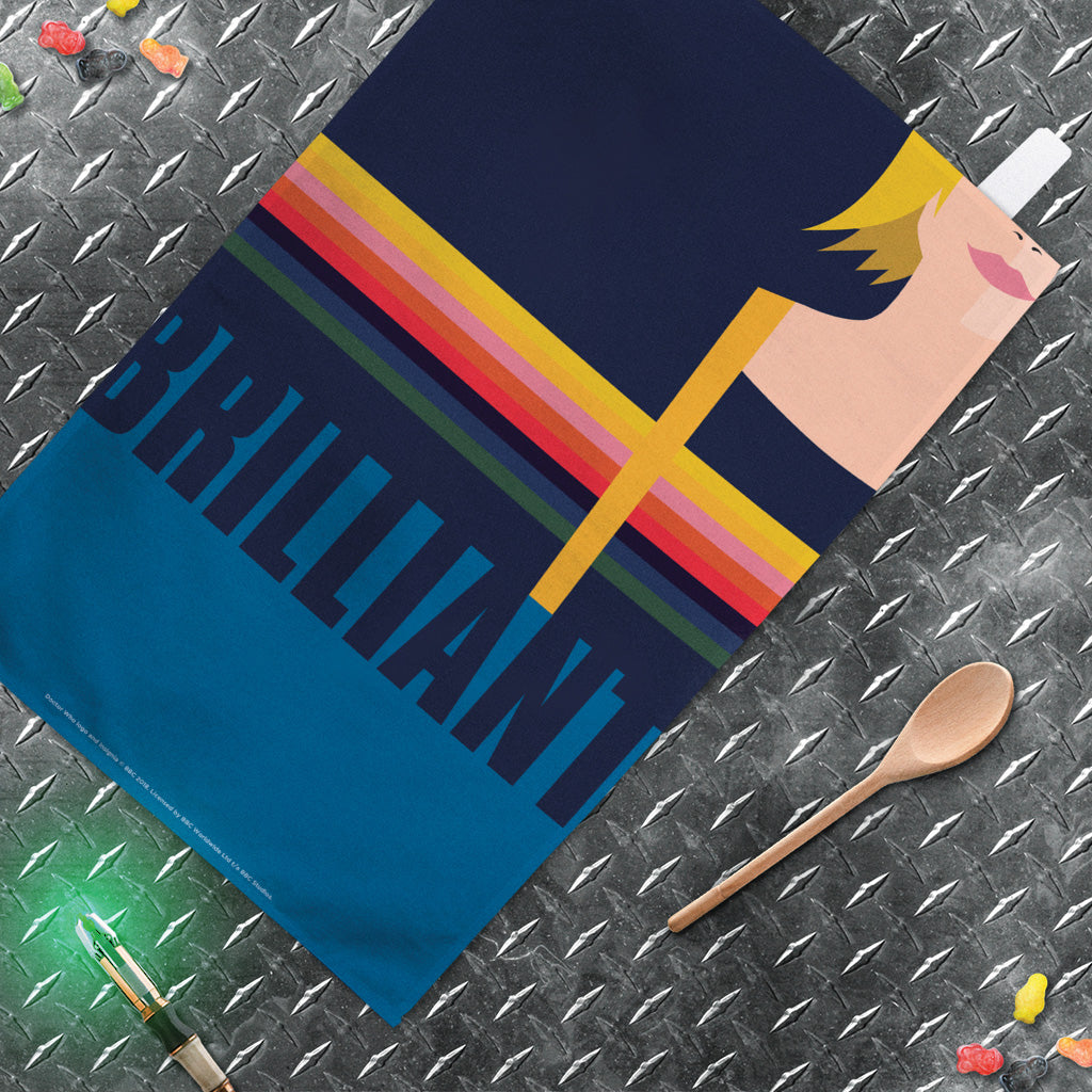 Thirteenth Doctor Brilliant Tea Towel (Lifestyle)