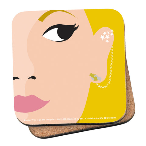 Thirteenth Doctor Face Coaster