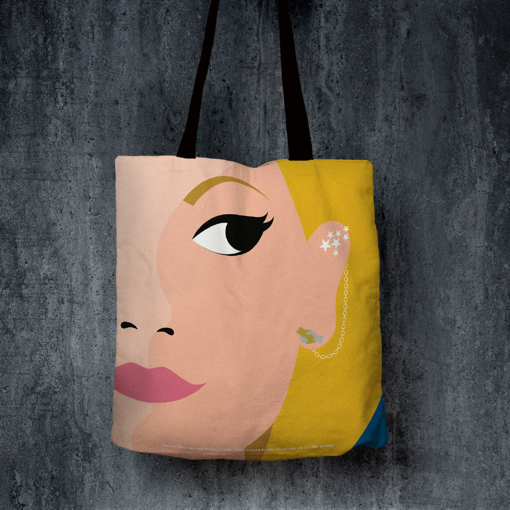 Thirteenth Doctor Face Edge to Edge Tote (Lifestyle)