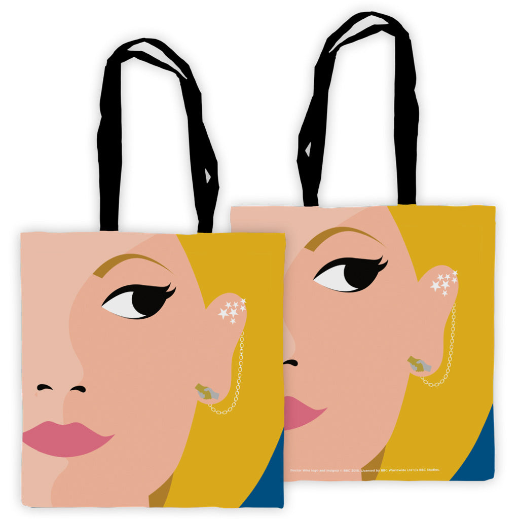 Thirteenth Doctor Face Edge to Edge Tote