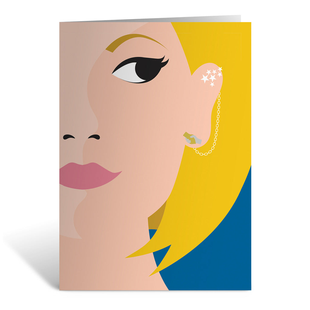 Thirteenth Doctor Face Greeting Card