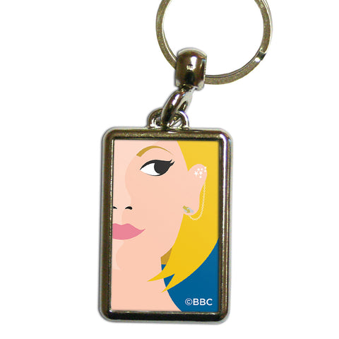 Thirteenth Doctor Face Metal Keyring