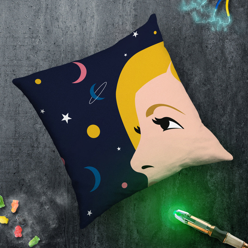 Thirteenth Doctor Space Cushion (Lifestyle)