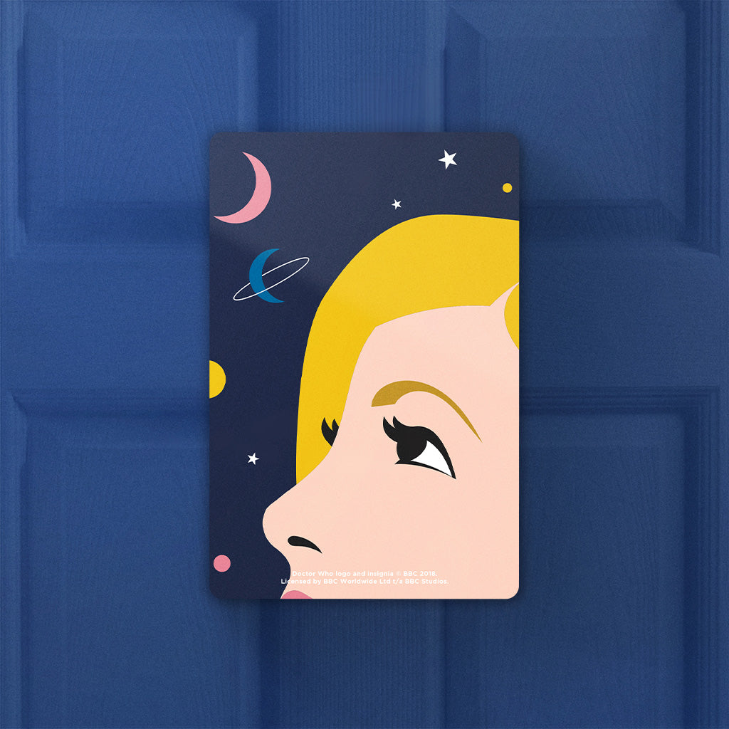 Thirteenth Doctor Space Door Plaque (Lifestyle)