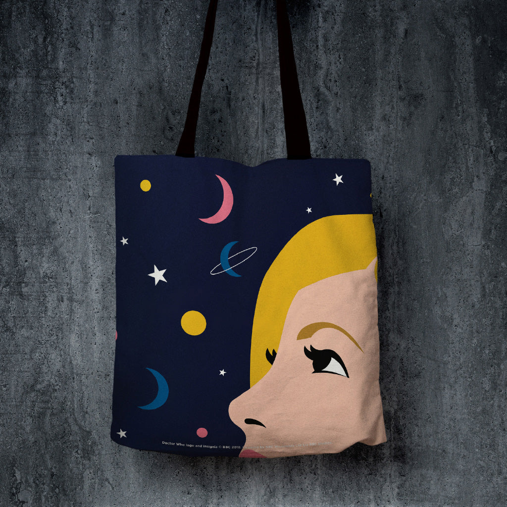 Thirteenth Doctor Space Edge to Edge Tote (Lifestyle)