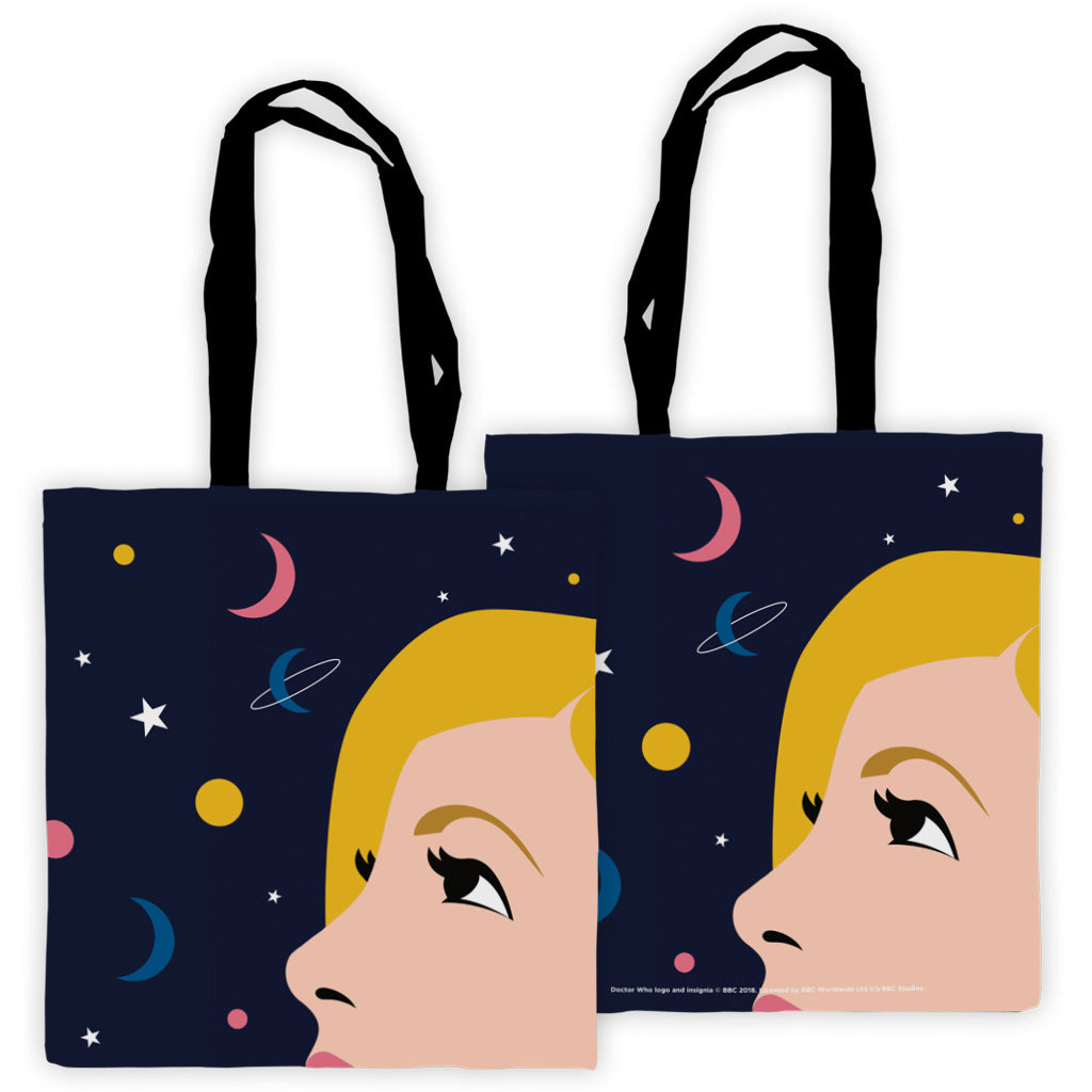 Thirteenth Doctor Space Edge to Edge Tote