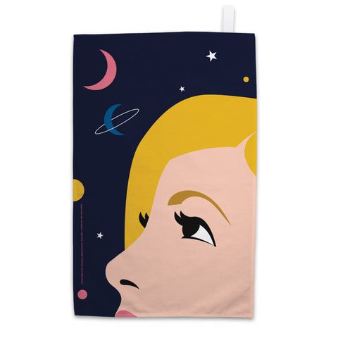 Thirteenth Doctor Space Tea Towel
