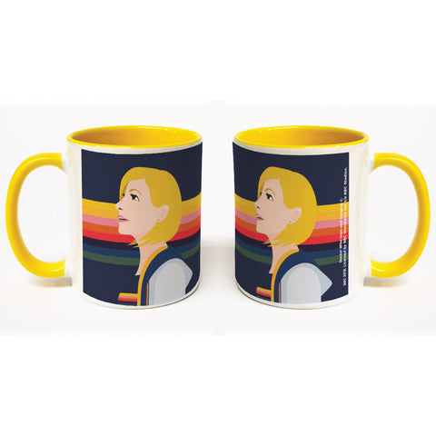 Thirteenth Doctor Rainbow Colour Insert Mug