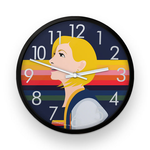 Thirteenth Doctor Rainbow Clock