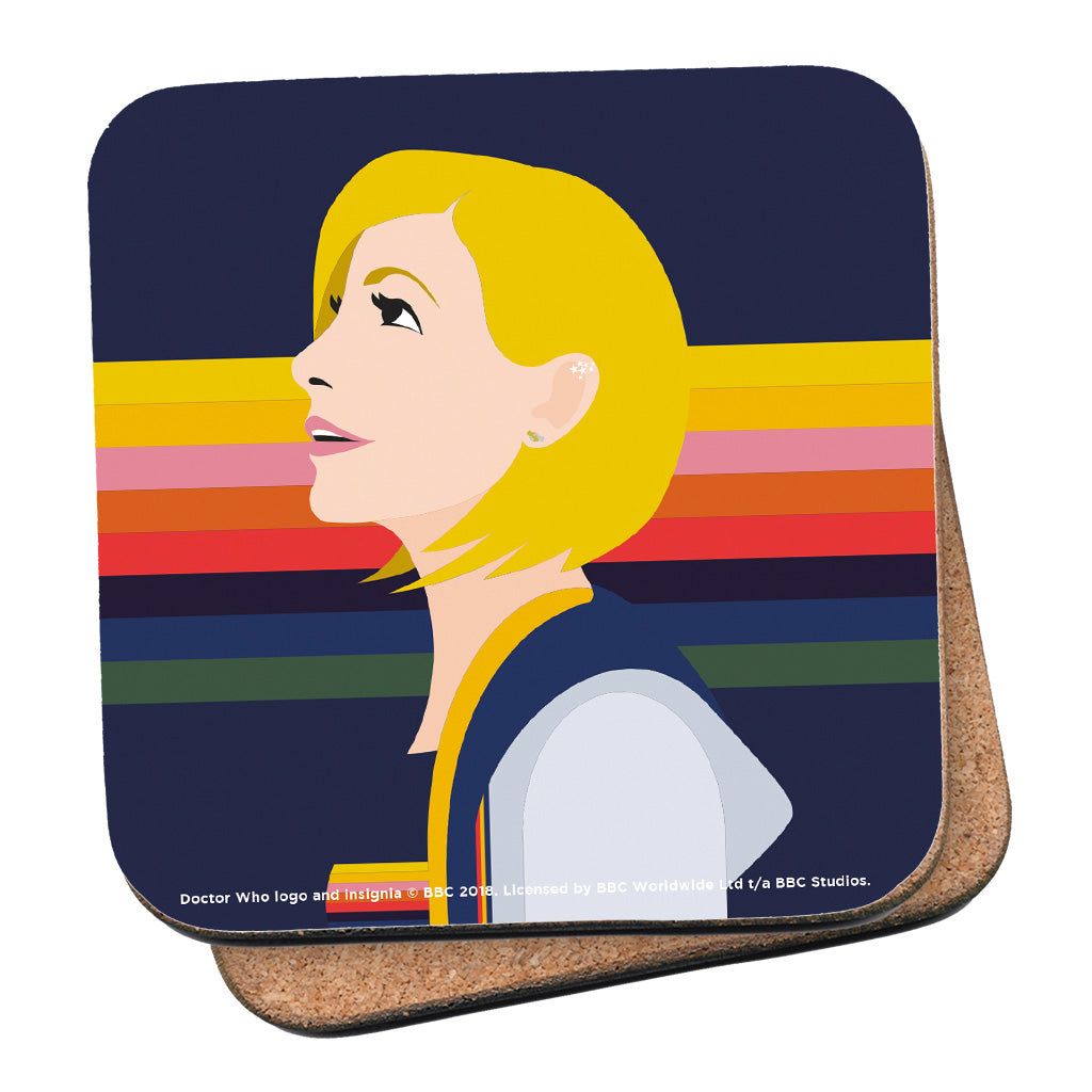 Thirteenth Doctor Rainbow Coaster