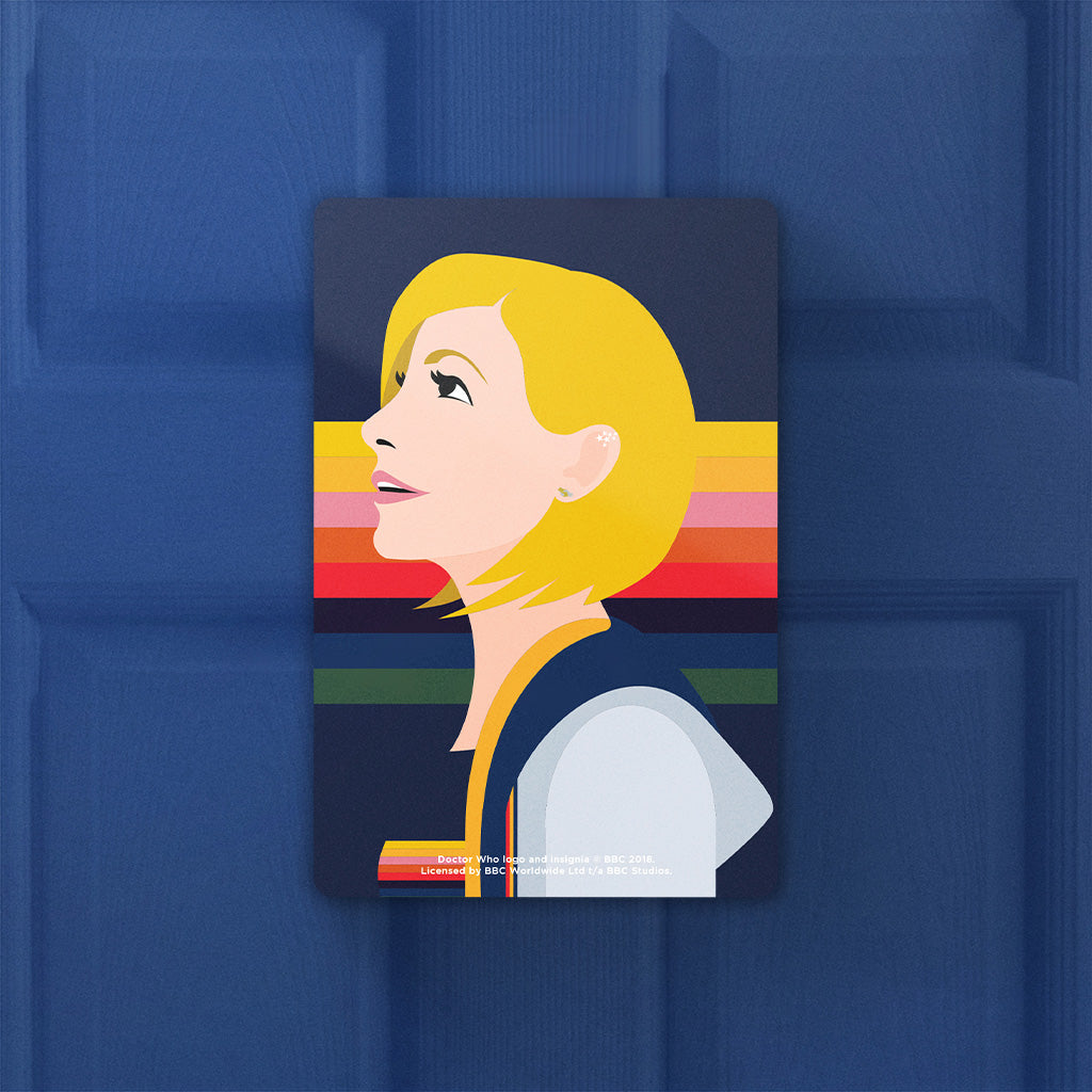 Thirteenth Doctor Rainbow Door Plaque (Lifestyle)