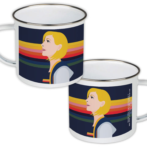 Thirteenth Doctor Rainbow Enamel Mug