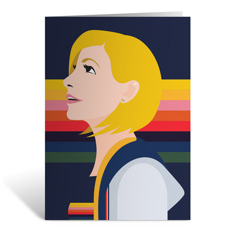 Thirteenth Doctor Rainbow Greeting Card