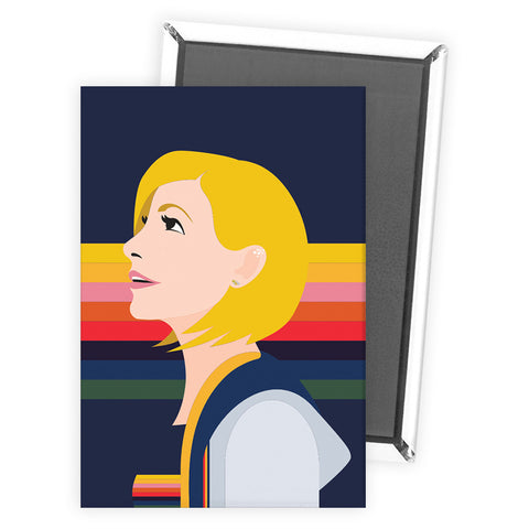 Thirteenth Doctor Rainbow Magnet