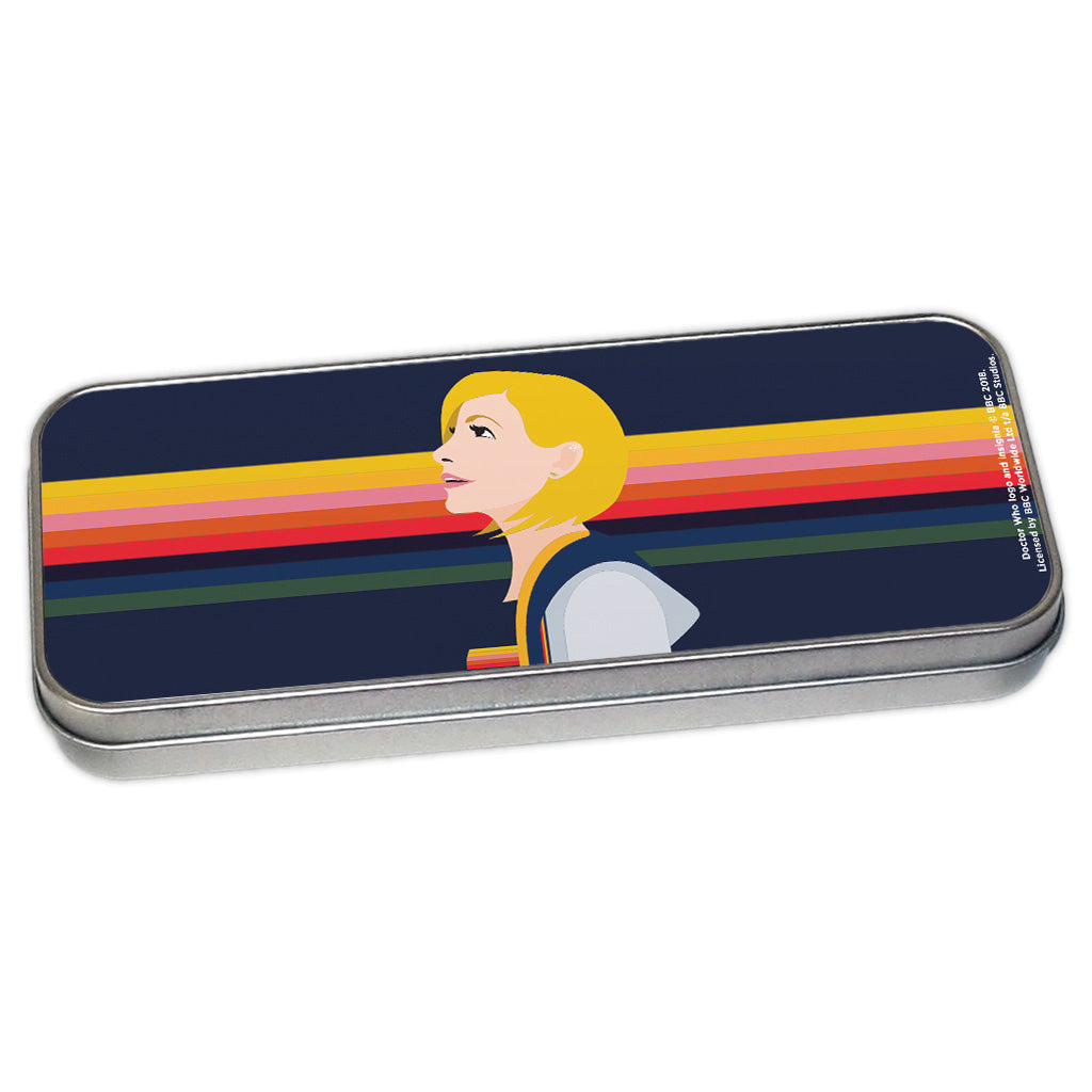 Thirteenth Doctor Rainbow Pencil Tin