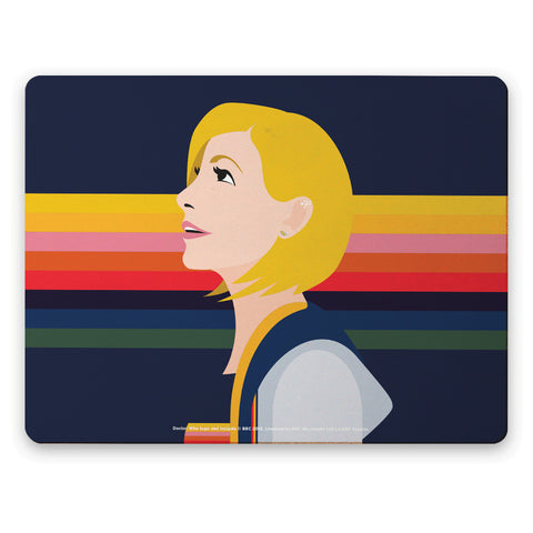 Thirteenth Doctor Rainbow Placemat