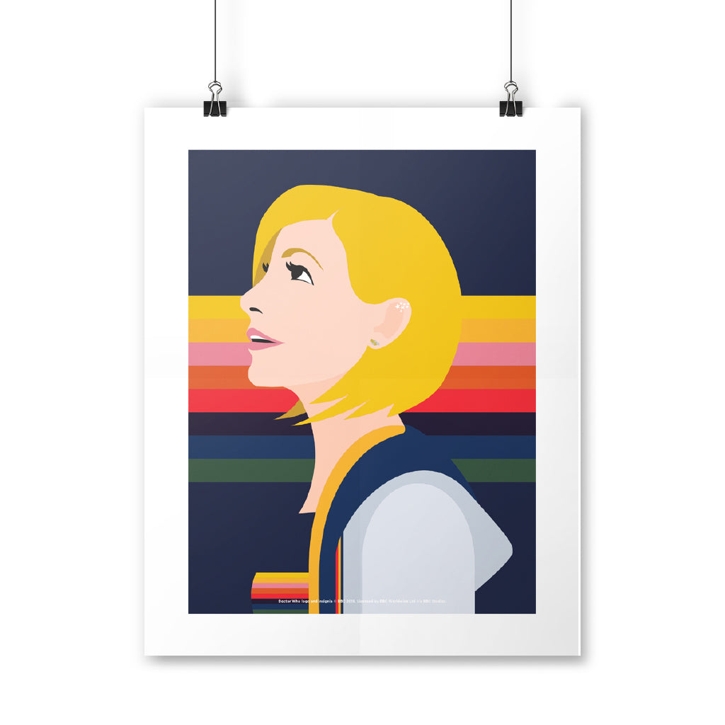 Thirteenth Doctor Rainbow Art Print