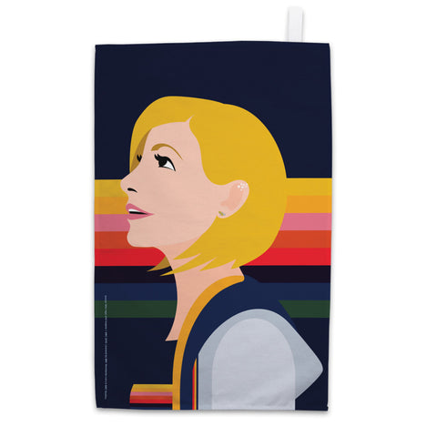 Thirteenth Doctor Rainbow Tea Towel