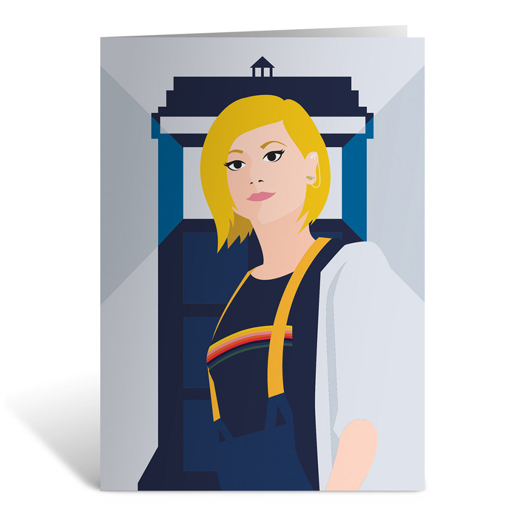 Thirteenth Doctor Tardis Greeting Card