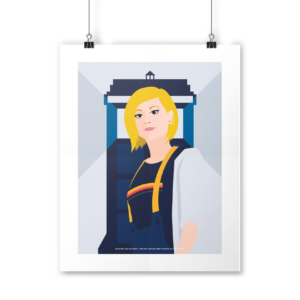 Thirteenth Doctor Tardis Art Print