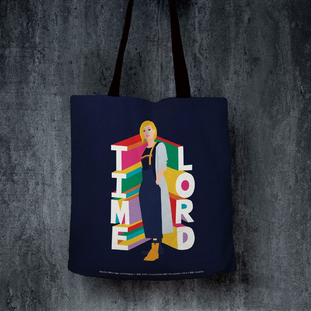Thirteenth Doctor Time Lord Edge to Edge Tote (Lifestyle)