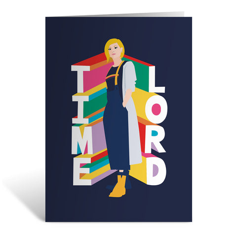 Thirteenth Doctor Time Lord Greeting Card