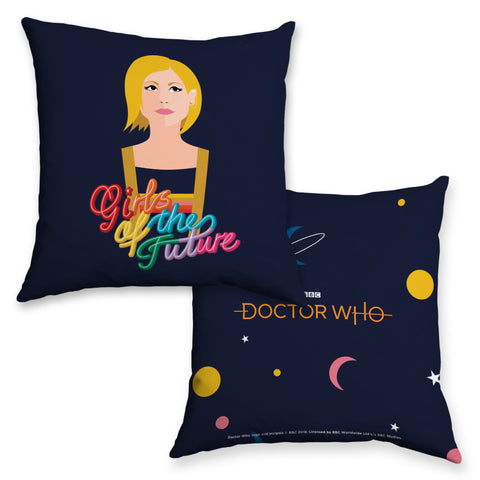 Thirteenth Doctor Girls Cushion