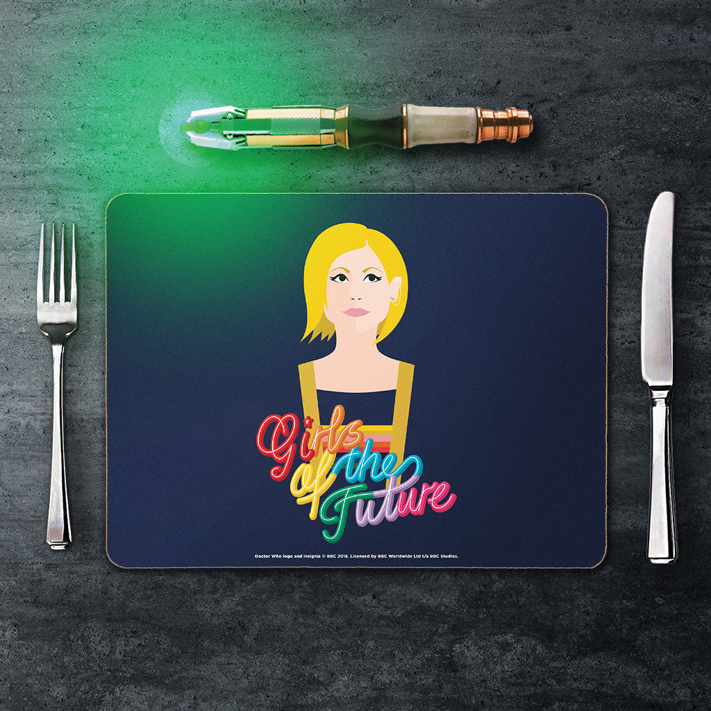 Thirteenth Doctor Girls Placemat (Lifestyle)