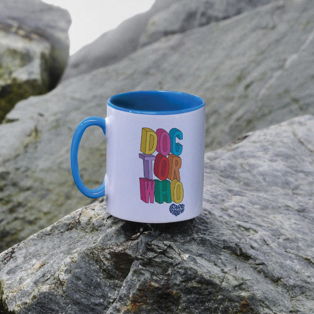 Thirteenth Doctor Stacked Colour Insert Mug (Lifestyle)