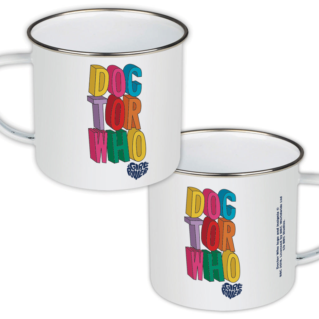 Thirteenth Doctor Stacked Enamel Mug