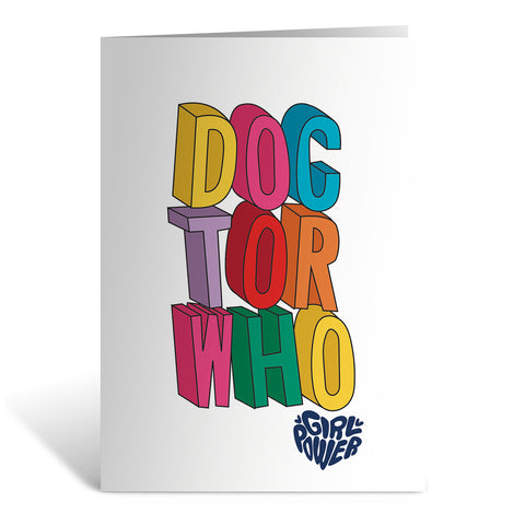 Thirteenth Doctor Stacked Greeting Card
