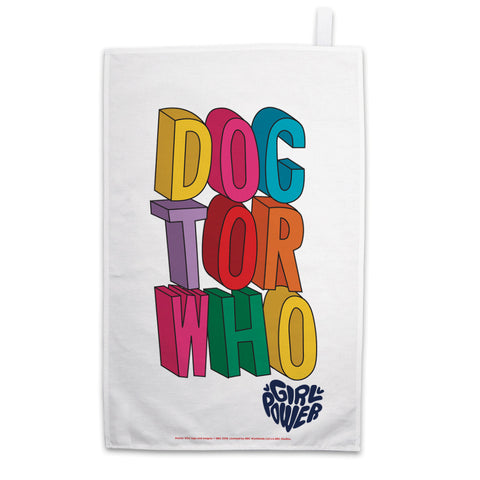 Thirteenth Doctor Stacked Tea Towel