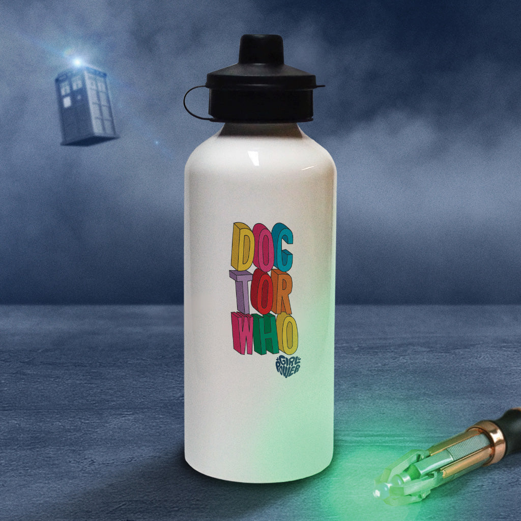 Thirteenth Doctor Stacked Water Bottle (Lifestyle)