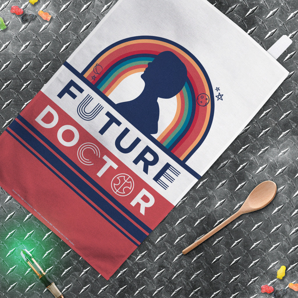 Thirteenth Doctor Future Tea Towel (Lifestyle)
