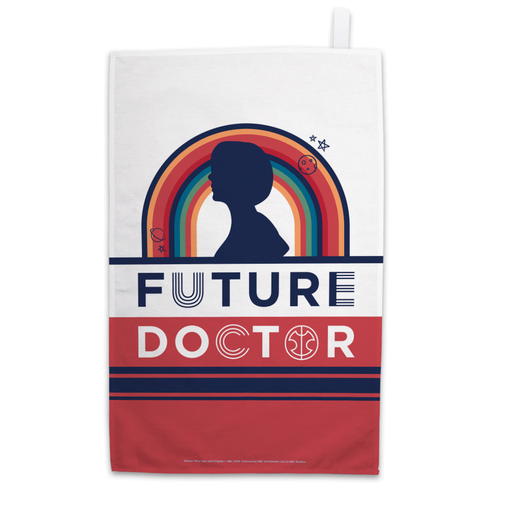 Thirteenth Doctor Future Tea Towel