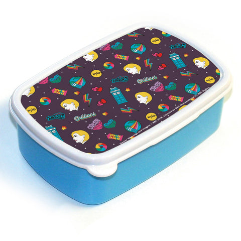 Thirteenth Doctor Pattern Purple Lunchbox