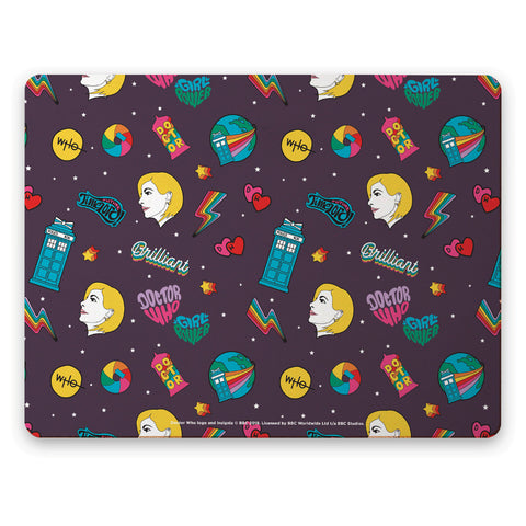 Thirteenth Doctor Pattern Purple Placemat
