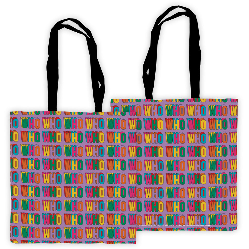 Thirteenth Doctor Pattern Who Edge to Edge Tote