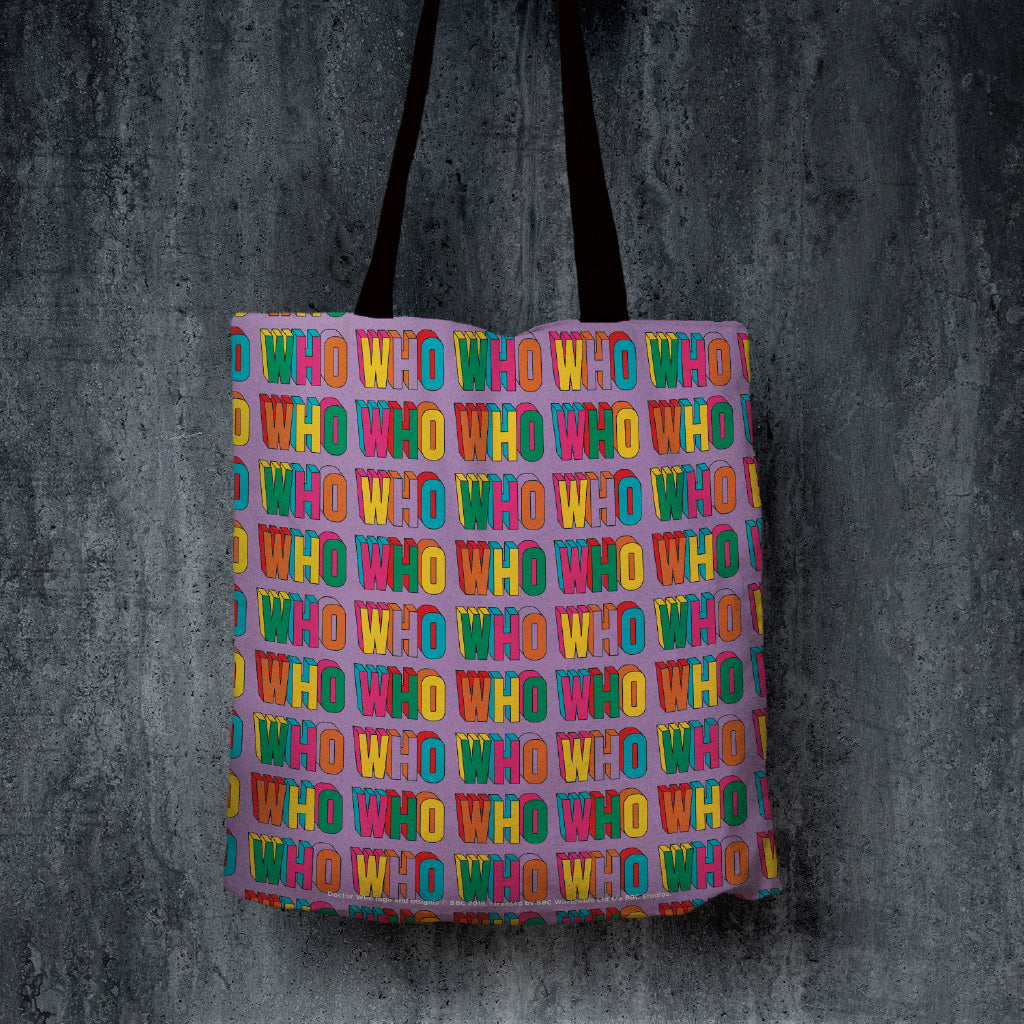 Thirteenth Doctor Pattern Who Edge to Edge Tote (Lifestyle)