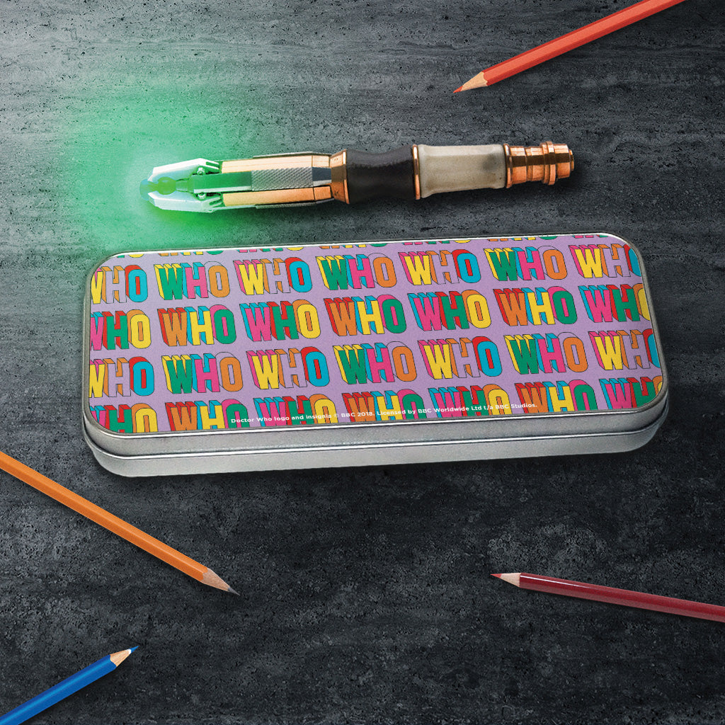 Thirteenth Doctor Pattern Who Pencil Tin (Lifestyle)