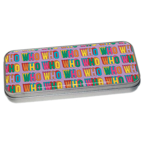 Thirteenth Doctor Pattern Who Pencil Tin